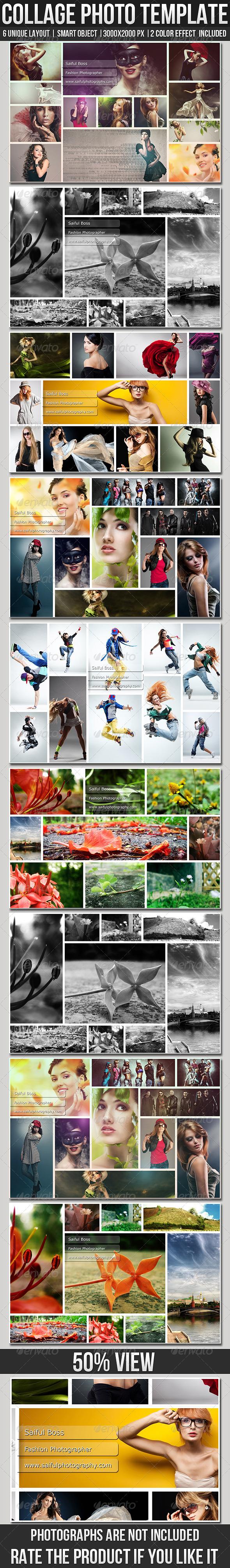 GraphicRiver Collage Photo Templates 6737088