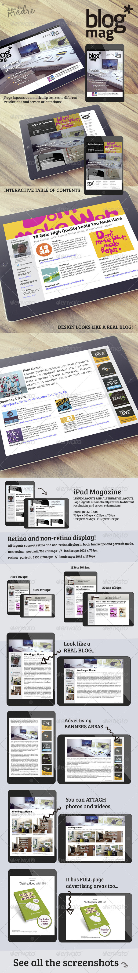 GraphicRiver iPad Magazine that Looks Like a Blog 6737110