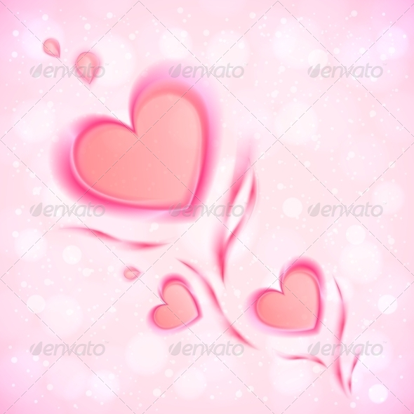 GraphicRiver Abstract Flowing Hearts Valentines Card 6737125