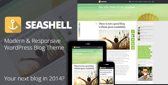 ThemeForest SeaShell Modern Responsive WordPress Blog Theme 6737517