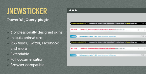 jNewsticker - jQuery News Ticker - CodeCanyon Item for Sale
