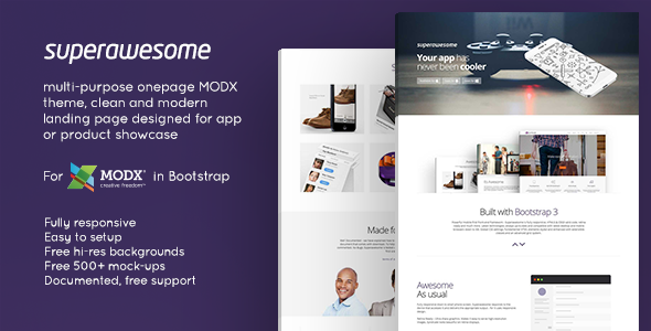 Image of Superawesome - Responsive Multi-Purpose MODx Theme