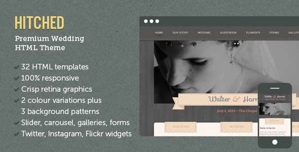 Hitched - Responsive Wedding Template