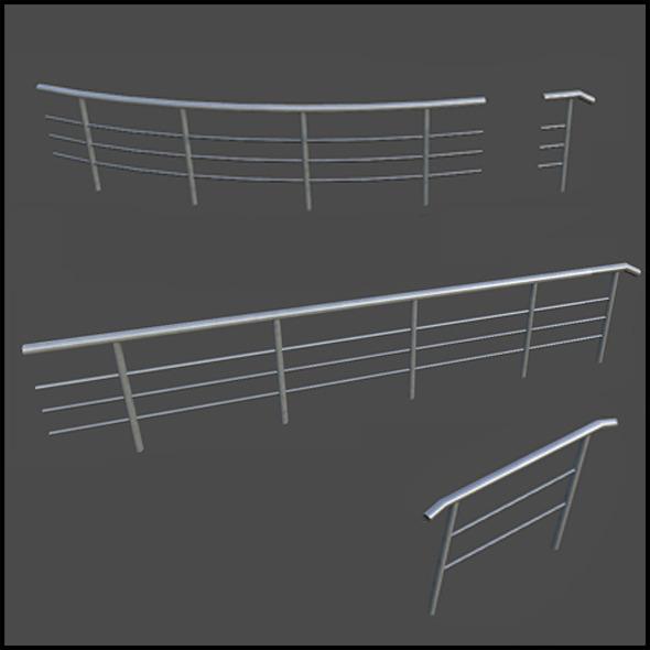 3DOcean Standard Metal Railing 6737653