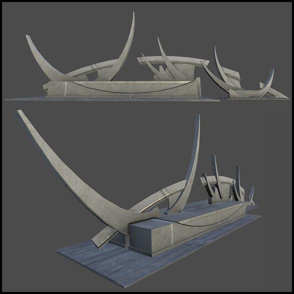 3DOcean Abstract Metal Sculpture 6737741