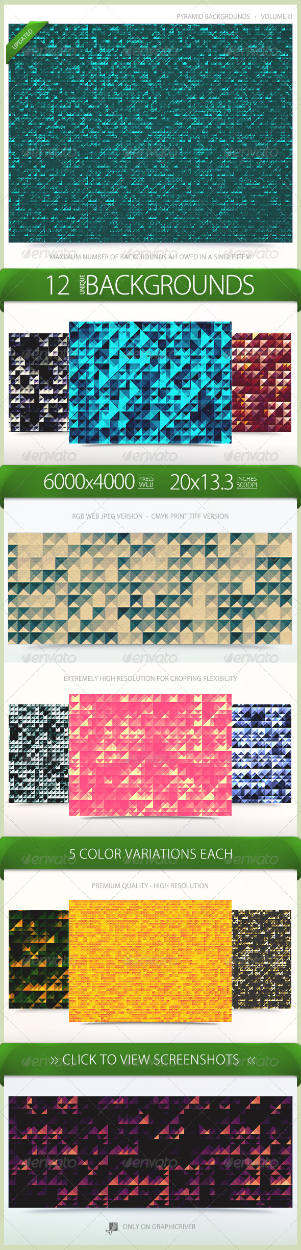 Pyramid Backgrounds Volume 3 - Patterns Backgrounds