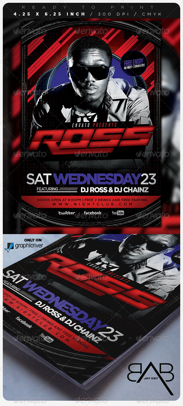 GraphicRiver Electro Concert Music Flyer 6737794