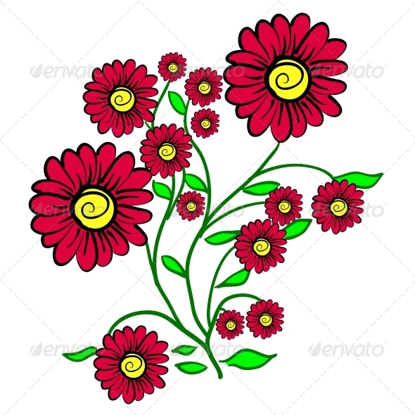 GraphicRiver Background with a Flower 6739223