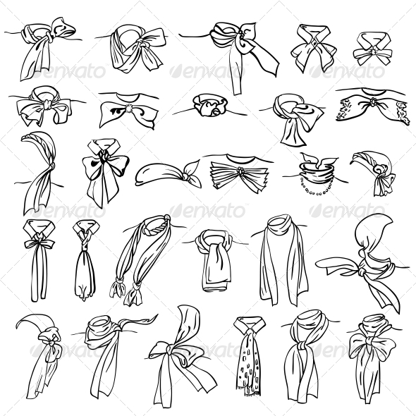 GraphicRiver Set of Different Neckerchiefs 6739239