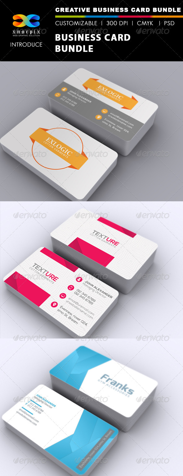 GraphicRiver Business Card Bundle 3 in 1-Vol 33 6739270
