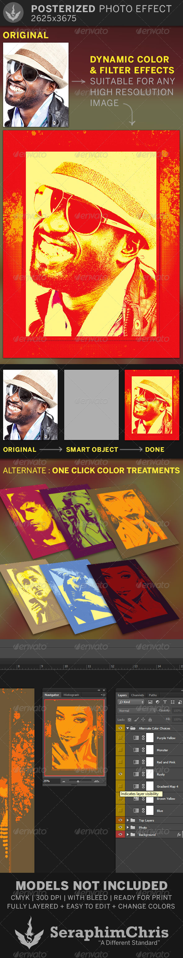 GraphicRiver Posterized Photo Effect Template 6739333