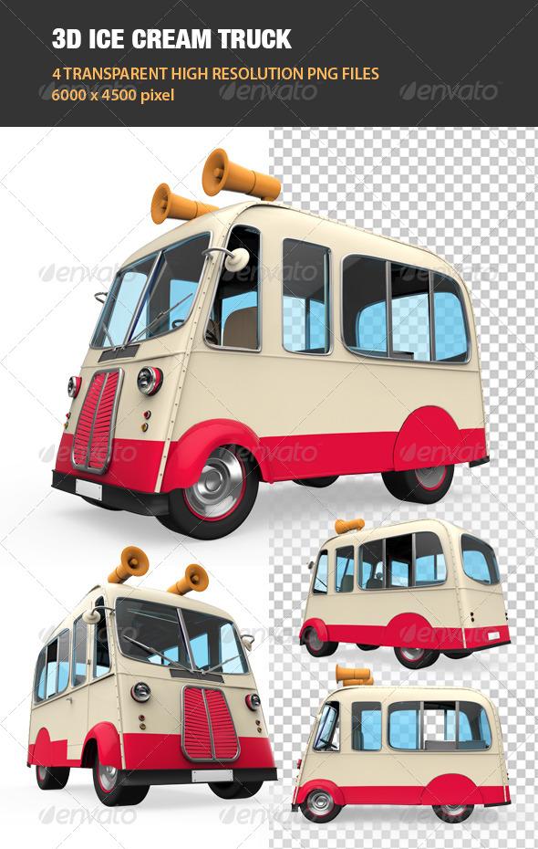 GraphicRiver 3D Ice Cream Truck 6739335