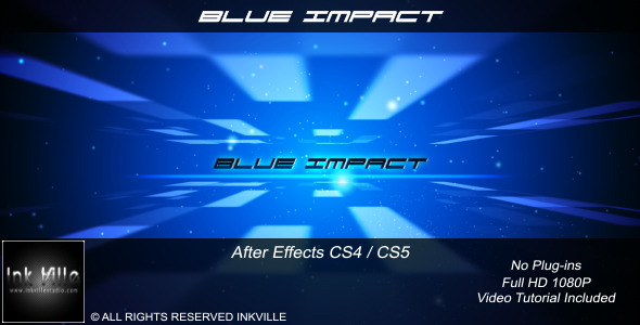 After Effects Project - VideoHive Blue Impact 690060