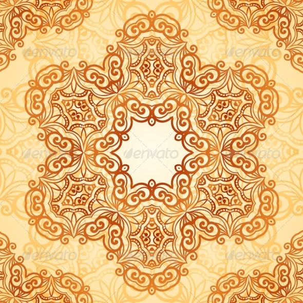 GraphicRiver Ornate Vintage Seamless Pattern in Mehndi Style 6739896