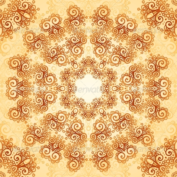 GraphicRiver Ornate Vintage Seamless Pattern in Mehndi Style 6739908