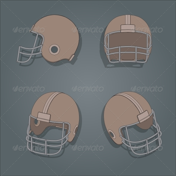 GraphicRiver American Football Helmet 6740054