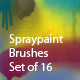 Spraypaint (Set of 16 Brushes) - GraphicRiver Item for Sale
