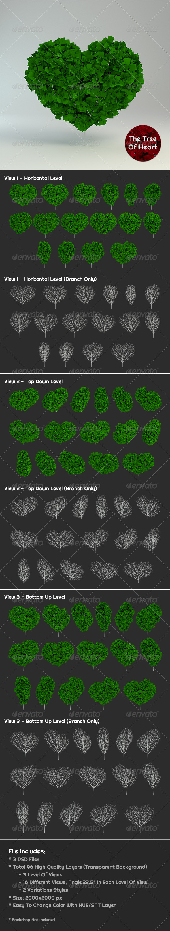 GraphicRiver The Tree Of Heart 6740299