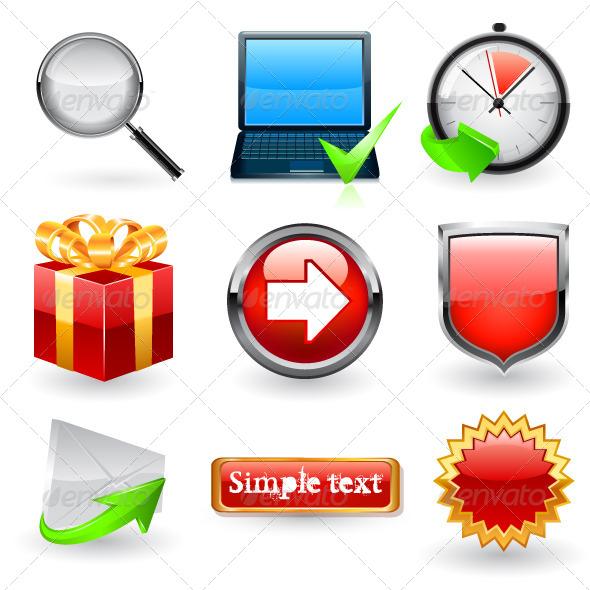 GraphicRiver Web Icon Set 6740331