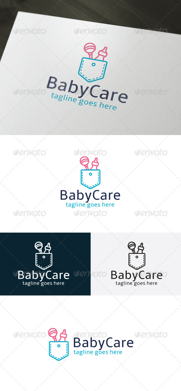 GraphicRiver Baby Care Logo 6740694