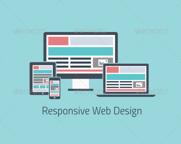 GraphicRiver Responsive Web Design Development Flat 6740839
