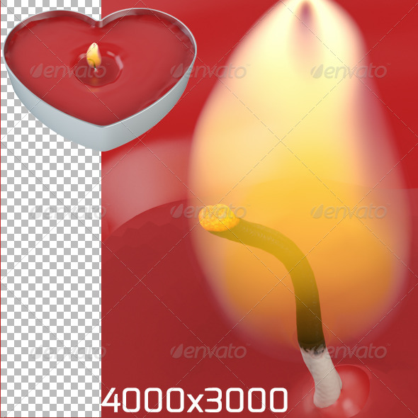 GraphicRiver Heart Candle 6741327