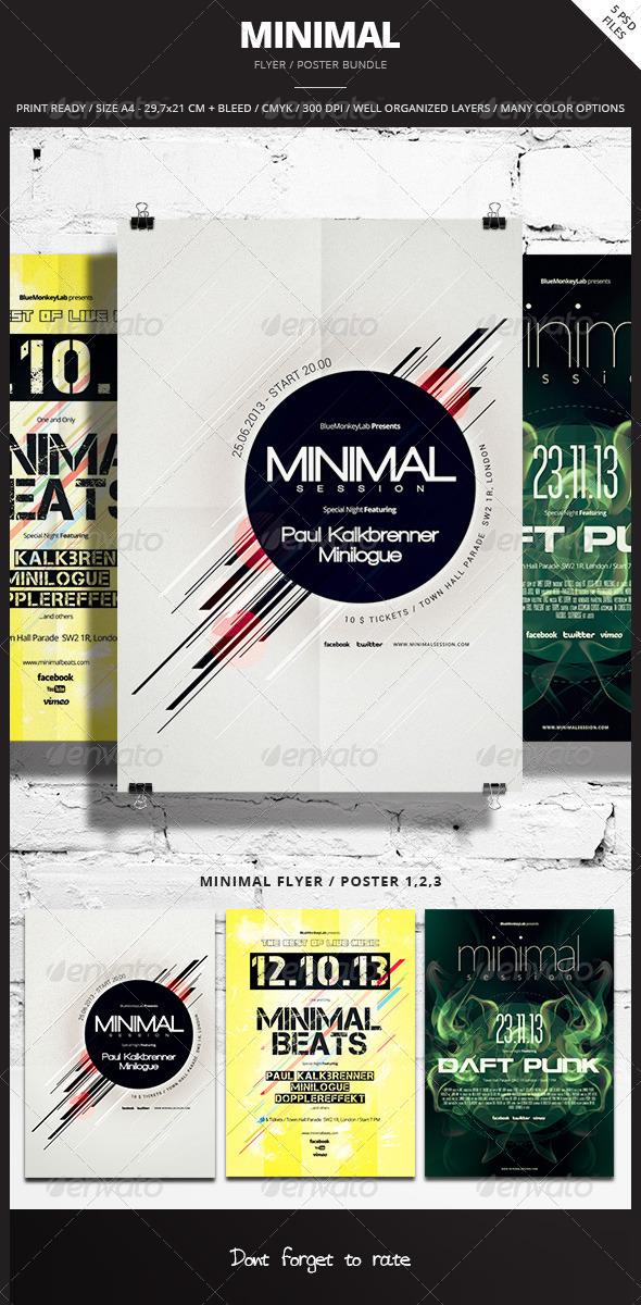 GraphicRiver Minimal Flyer Poster Bundle 6741683