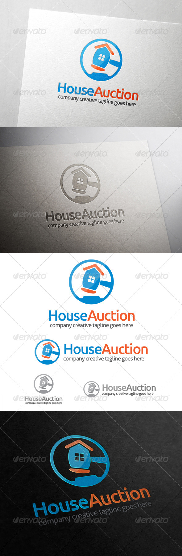 GraphicRiver House Auction Logo 6741686