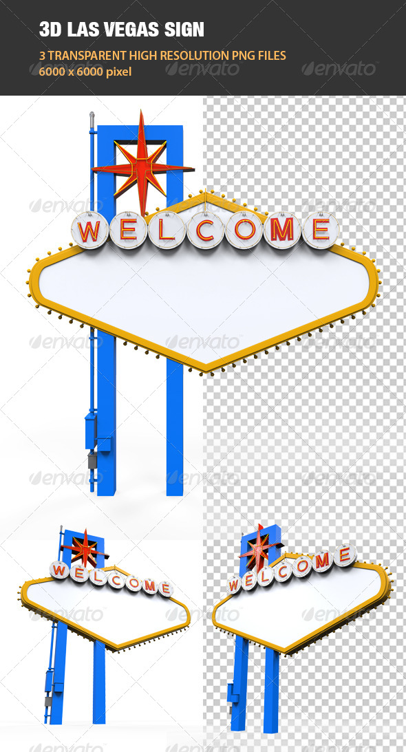 GraphicRiver 3D Las Vegas Sign 6741856