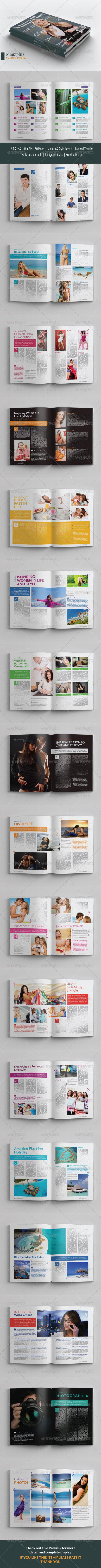 GraphicRiver A4 Letter Magzplus Magazine Template 6741984
