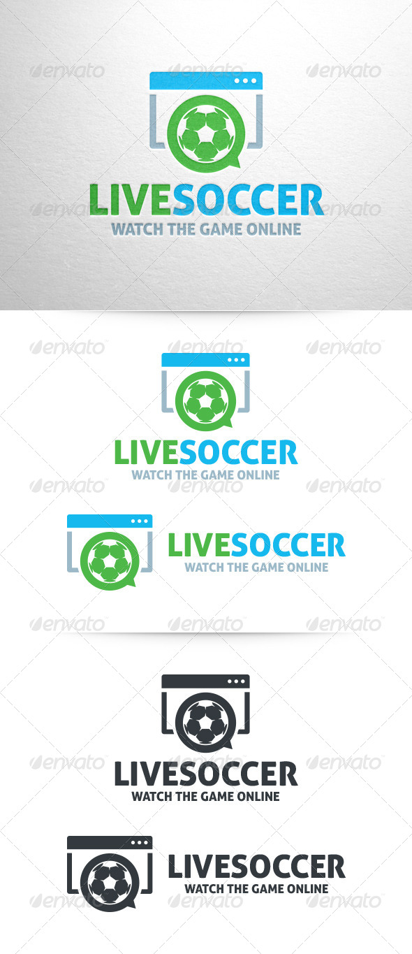 GraphicRiver Live Soccer Logo Template 6742241