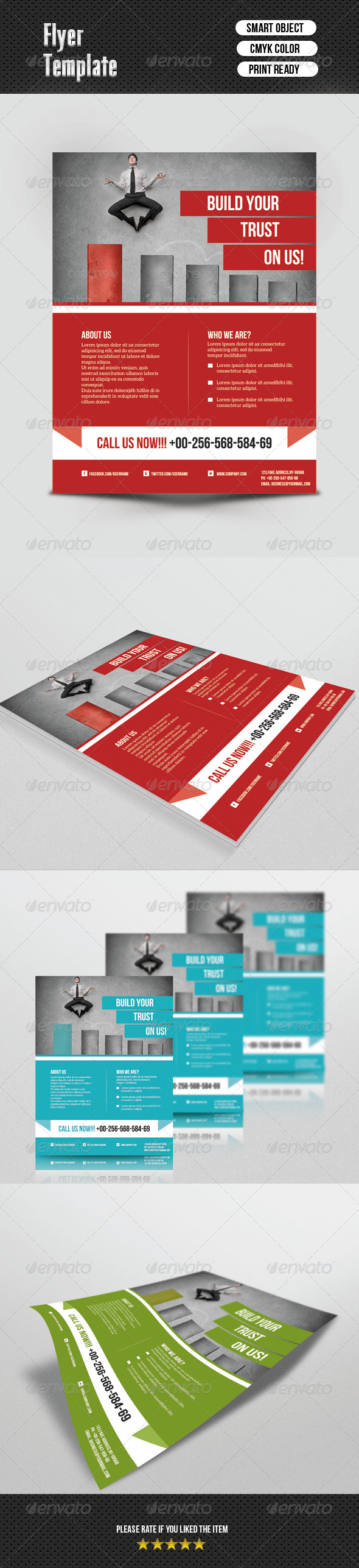 GraphicRiver Corporate Flyer Template 6742270