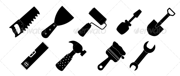 GraphicRiver Different Tool Icons Set 6742275