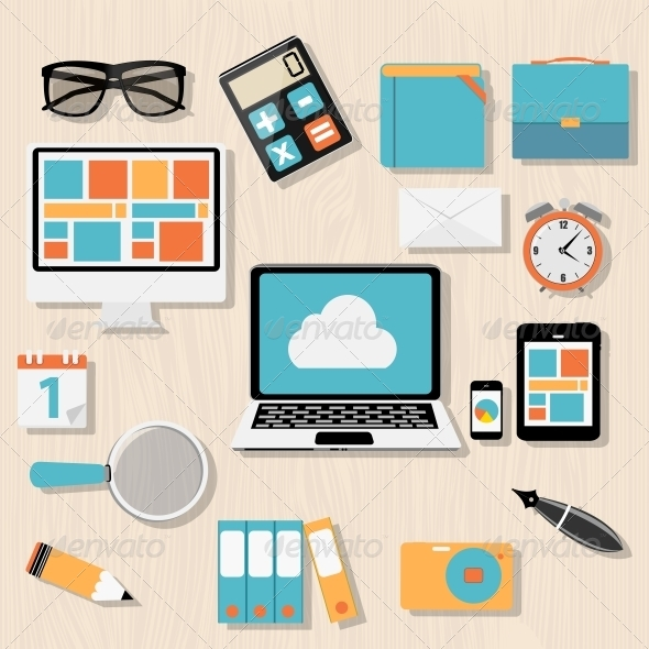 GraphicRiver Modern Flat Icon Set for Web and Mobile Application 6742304