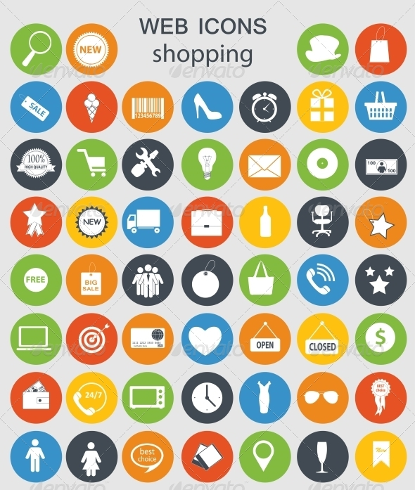 GraphicRiver Shopping Icons 6742308