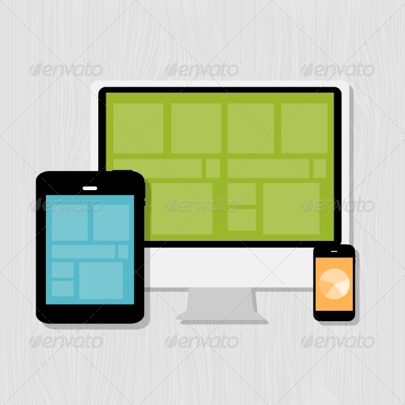 GraphicRiver Computing Concept on Different Electronic Devices 6742427