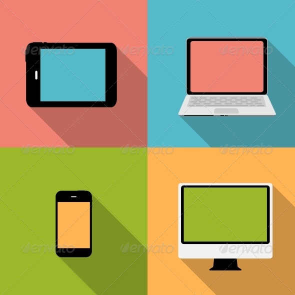 GraphicRiver Computing Concept on Different Electronic Devices 6742461