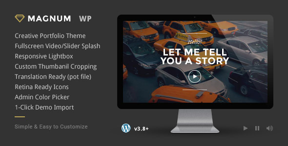 ThemeForest Magnum Creative Portfolio WordPress Theme 6742541