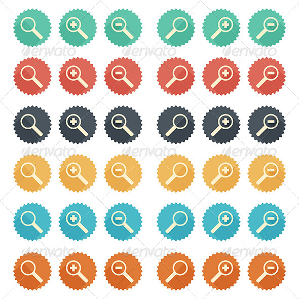 GraphicRiver Flat Icon Magnifier 6132516