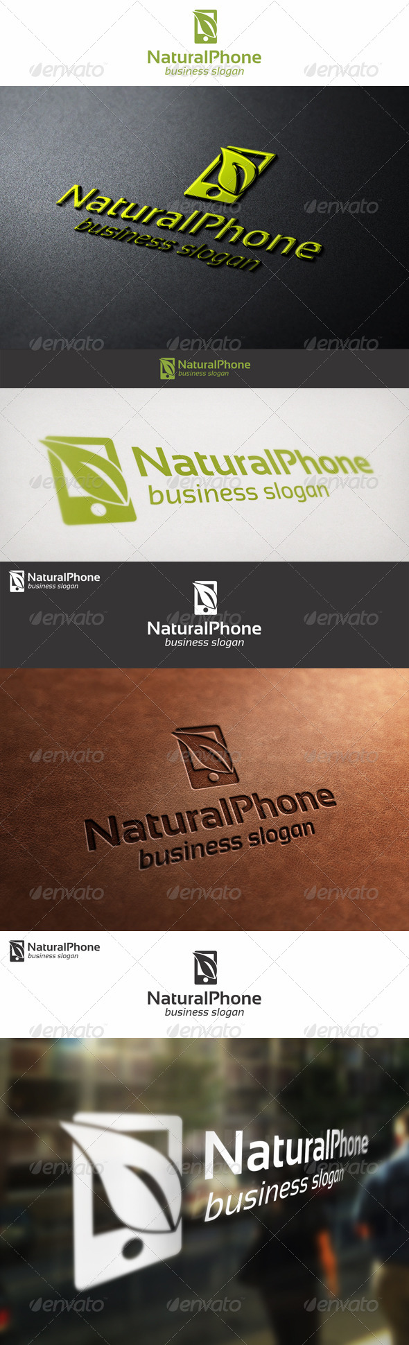 Natural Phone - Eco Mobile Logo - Objects Logo Templates
