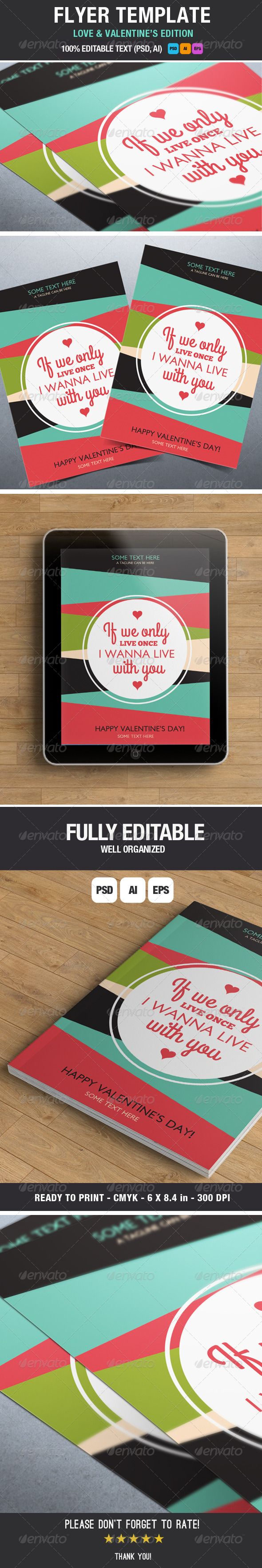 GraphicRiver Flyer Love Quote and Valentine Edition 6696240