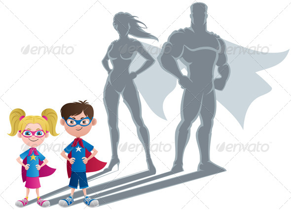 GraphicRiver Kids Superhero Concept 6743157