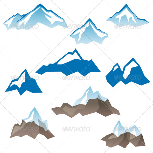 GraphicRiver Stylized Mountains Icons 6743206