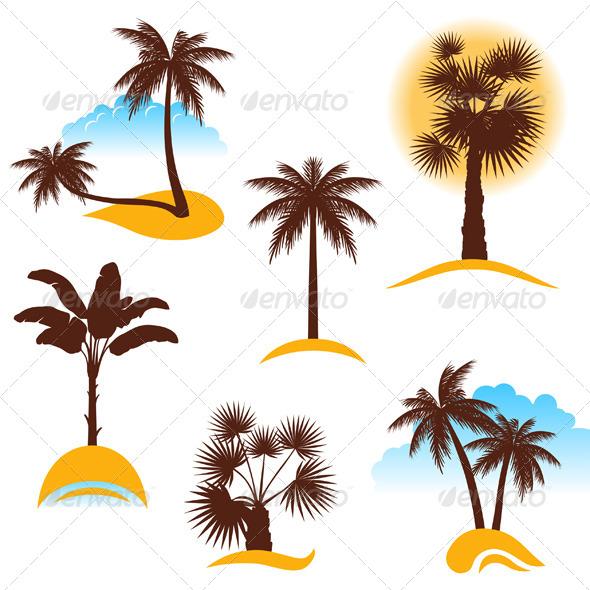 GraphicRiver Palm Trees 6743357