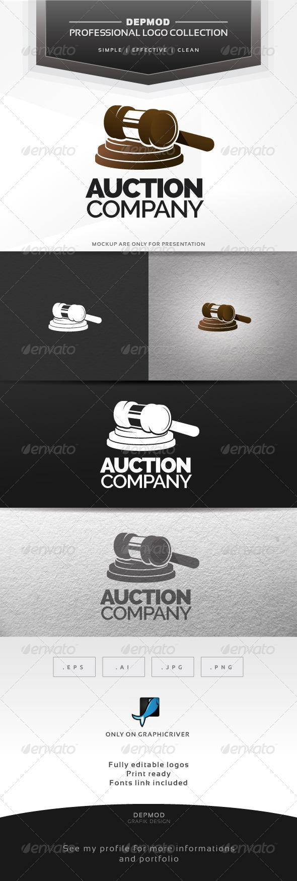 GraphicRiver Auction Company Logo 6743363