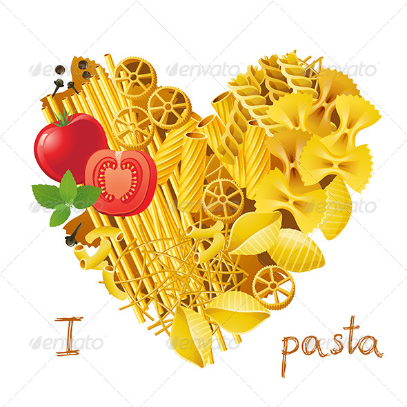 GraphicRiver Heart Made from Pasta 6743368