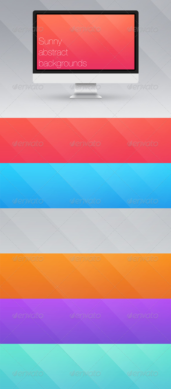 GraphicRiver Sunny Abstract Backgrounds 6743597