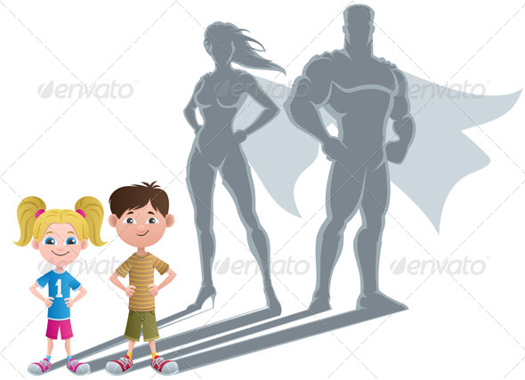 Kids Superhero Concept - People Characters