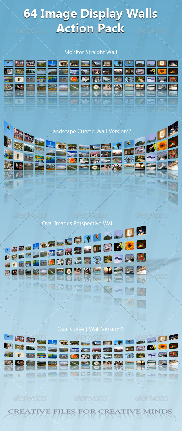 GraphicRiver 64 Image Display Wall Action Pack 6735227