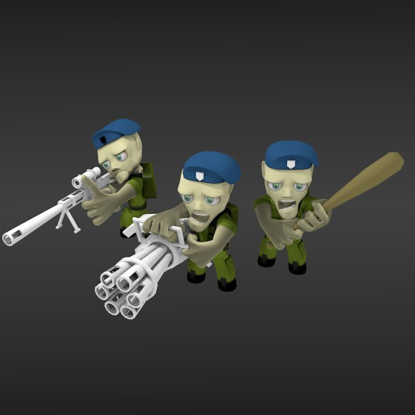 Russian Paratrooper - 3DOcean Item for Sale